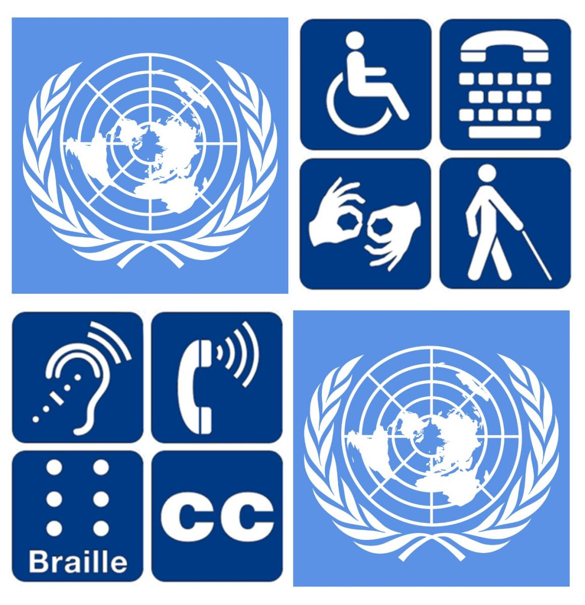 UN Logo and Accessible Signage