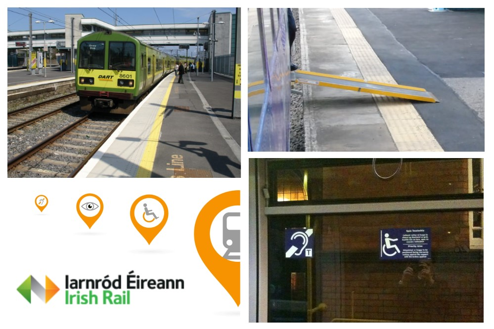 Dart at station, Platform Ramp and Accessible Signage.