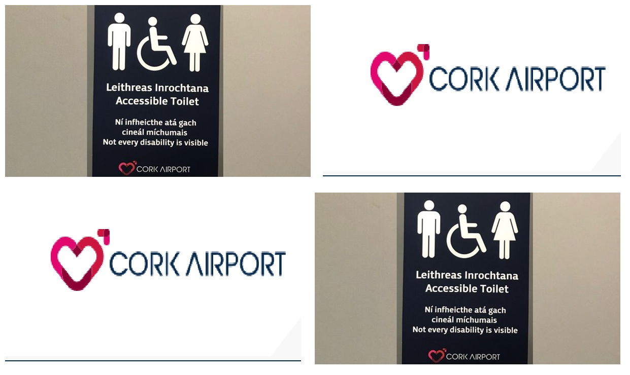 Cork Airport Accessible Signage
